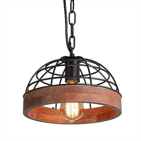 Amazon.com: Anmytek - Lámpara de techo ajustable de madera ...