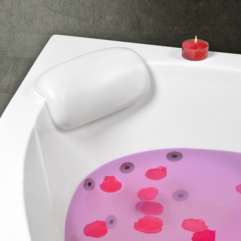 Kopf- und Nackenkissen für Badewanne (Eckwanne) Modell Mosel Weiss AQUADE
