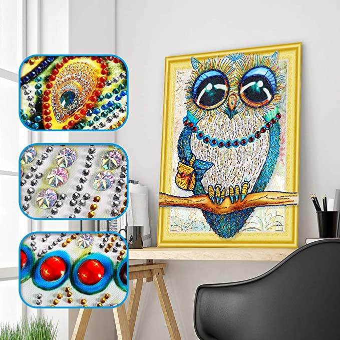 """/""""Owl/""""DIY Diamond Painting Special Shaped Drill Diamond Embroidery Children gift"""