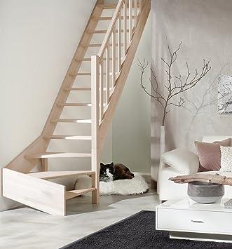 De madera escaleras de Casa Blanca haya Intercon/abeto de ¼ allthingsaccessorytm a la derecha o a la izquierda, de madera de la columna barandilla: Amazon.es: Bricolaje y herramientas