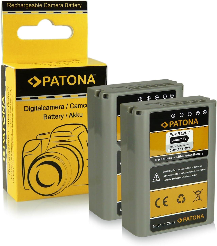 2x Batería PS-BLN1 | BLN-1 para Olympus OM-D E-M1 | OM-D E-M5 | Pen E-P5 | Stylus XZ-2