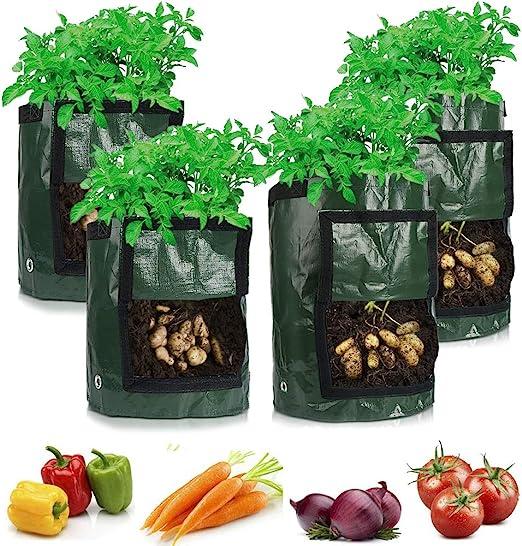 TooTaci 2 Bolsas de Cultivo de Patatas de 10 galones y 2 Piezas de ...