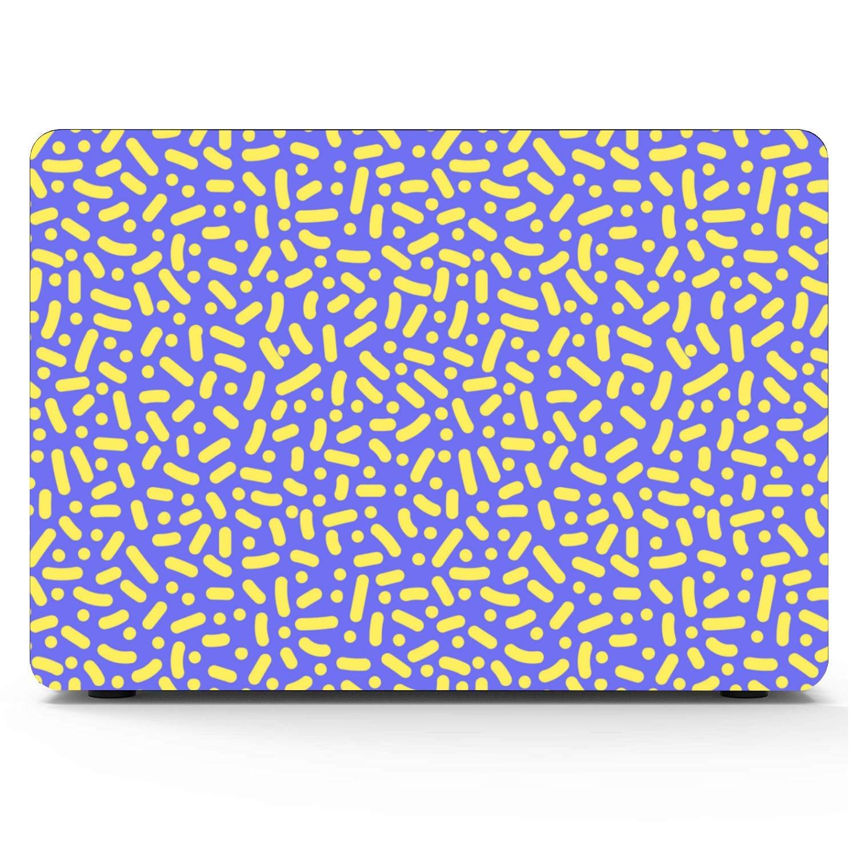 Laptop Case MacBook Pro Summer Cute Retro Puple Yellow Line Plastic Hard Shell Compatible Mac Air 11 Pro 13 15 Mackbook Pro Case Protection for MacBook 2016-2019 Version