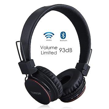 Auriculares Inalámbricos Bluetooth para Niños Adulto, Cascos Recargables y Plegables con Micrófono y Limitador de Volumen para Tableta, PC, Smartphone, ...