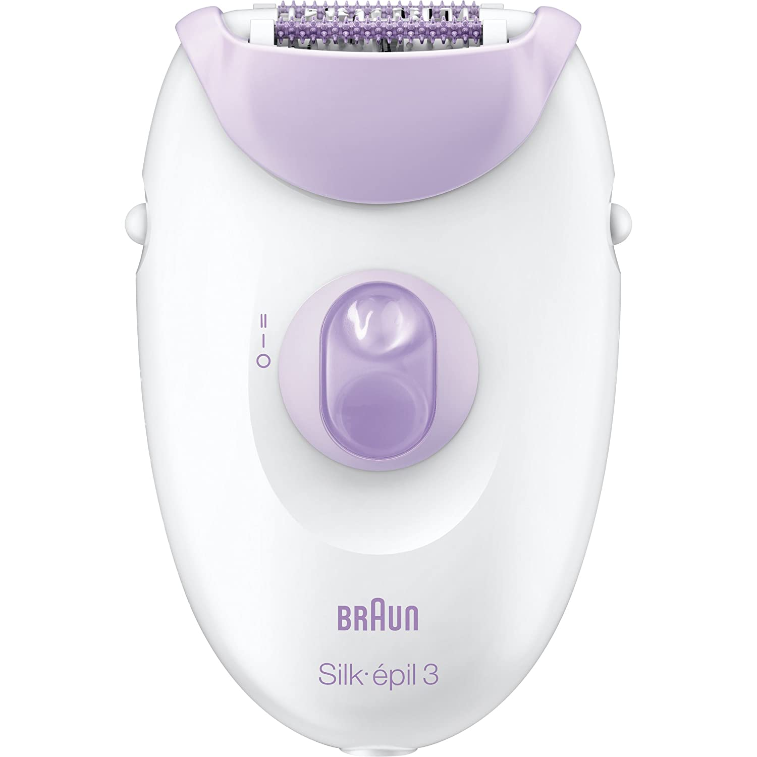 Braun Silk-épil 3 Women's Epilator, Electric Hair Removal, White/Purple (Packaging May Vary)
