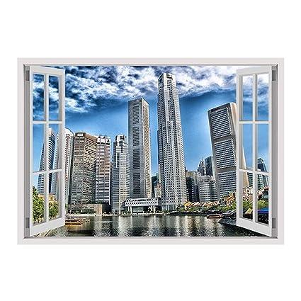 Amazon com: Alonline Art - Singapore Skyline Buildings by