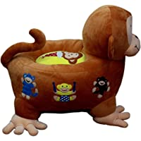 Pearl World Micky Shape C Hair Imported Premium Quality Soft Toy Chair/seat for Baby Sitting/Soft Toy Chair for Kids Birthday (Color- Brown, Size- 70cm)