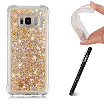 Glitter Transparent Durchsichtige Kristal Klar Clear TPU f/ür Samsung S8