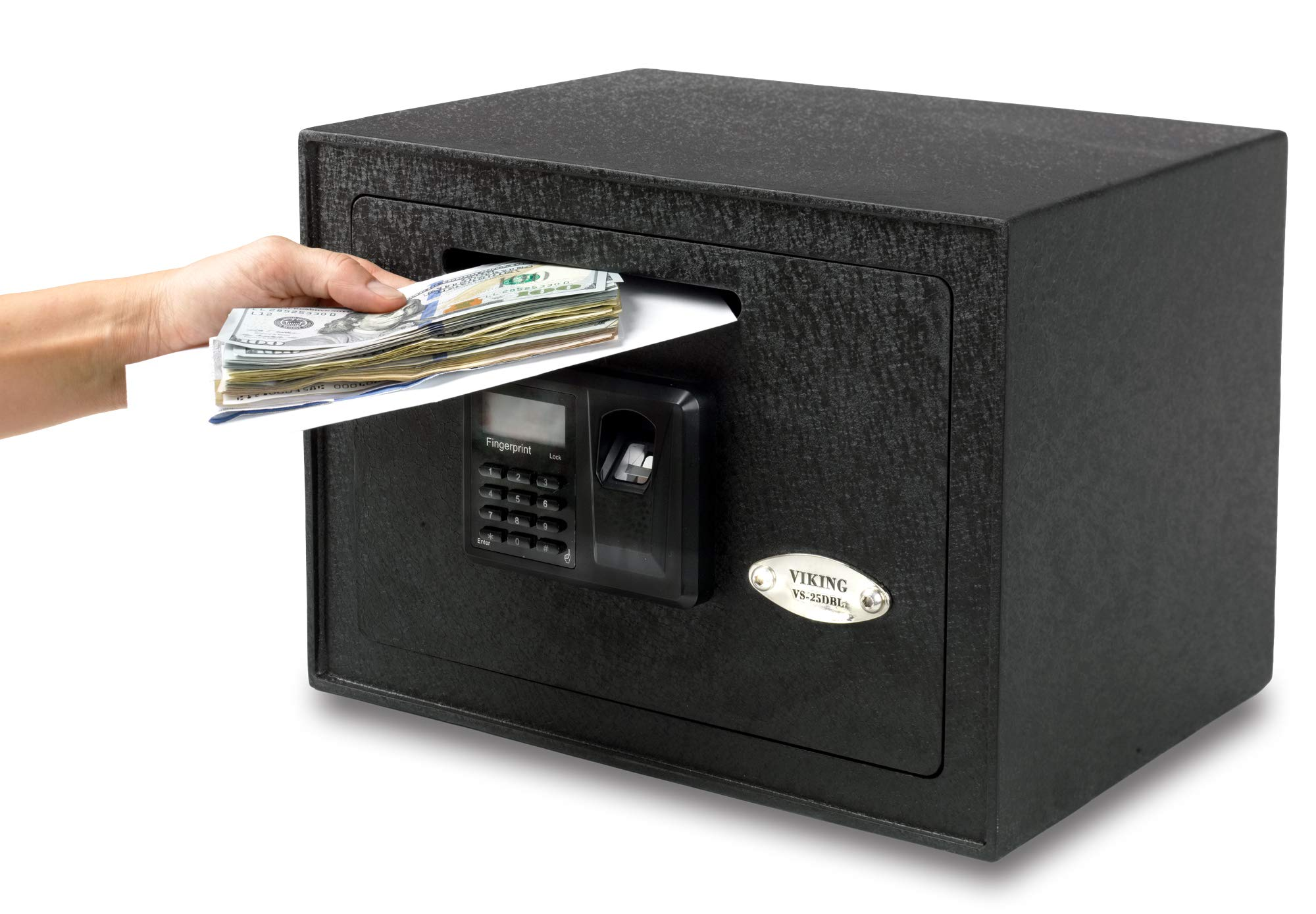 Viking Security Safe VS-25DBLX Depository Biometric Safe Fingerprint Safe Small Drop Slot Safe