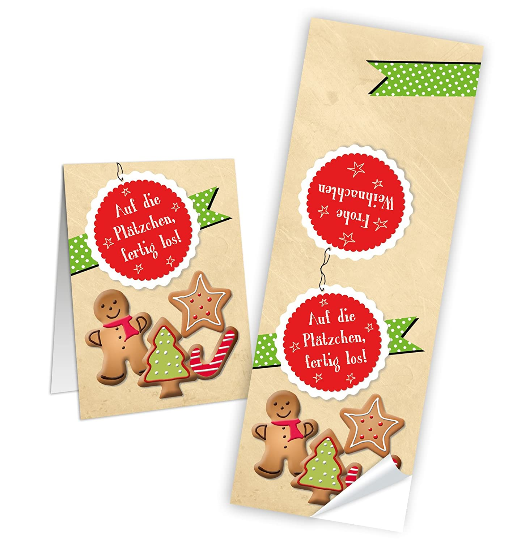 Weihnachtsgebäck Verpacken.10 Weihnachts Aufkleber Auf Die Plätzchen Aufkleber Weihnachten Rot