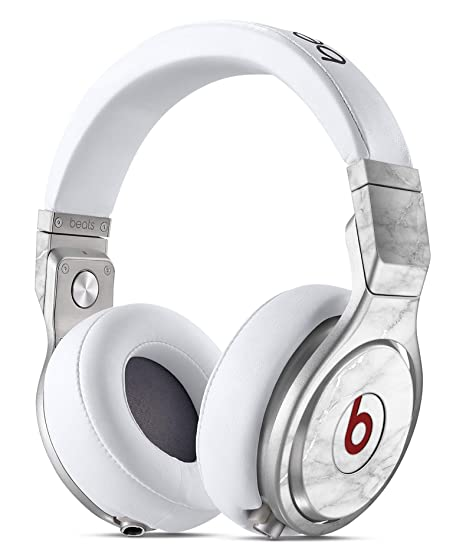 5eb05811feb Image Unavailable. Image not available for. Color: White Scratched Marble  DesignSkinz Full-Body Skin Kit for the Beats by Dre Pro Headphones
