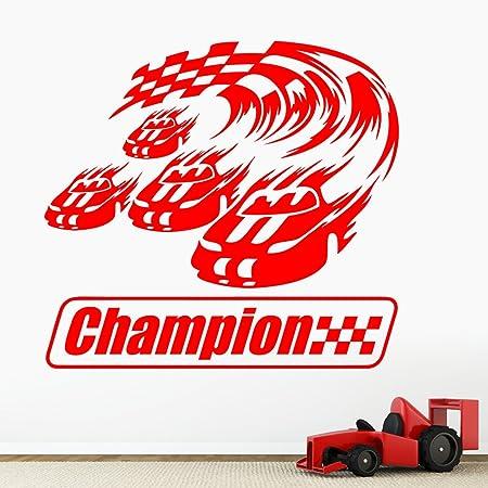 Grand Prix Racing Cars Boys Wall Sticker - Art Decal Vinyl Stickers ...