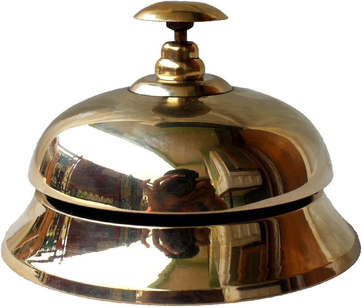 sliver Livoty Hotel Service Steel Bell Call Ringer Ring Reception Restaurant Desk Kitchen Toy great for kids pretend play