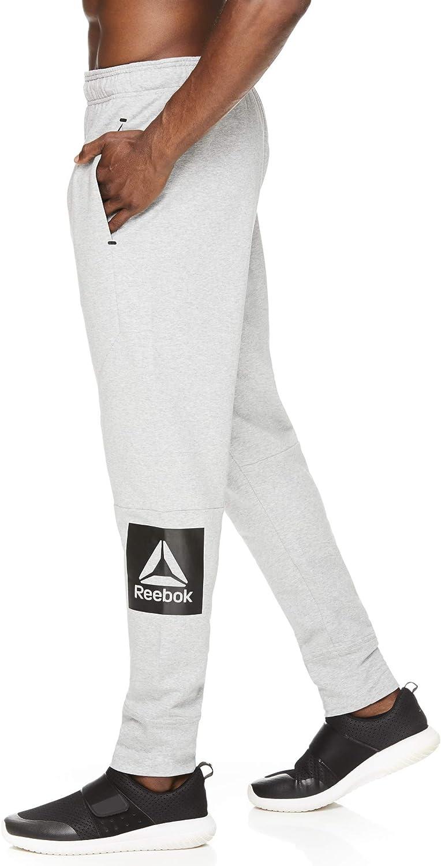 Reebok Pantalon de jogging avec poches pour homme Buzzer Jogger Gris Chiné