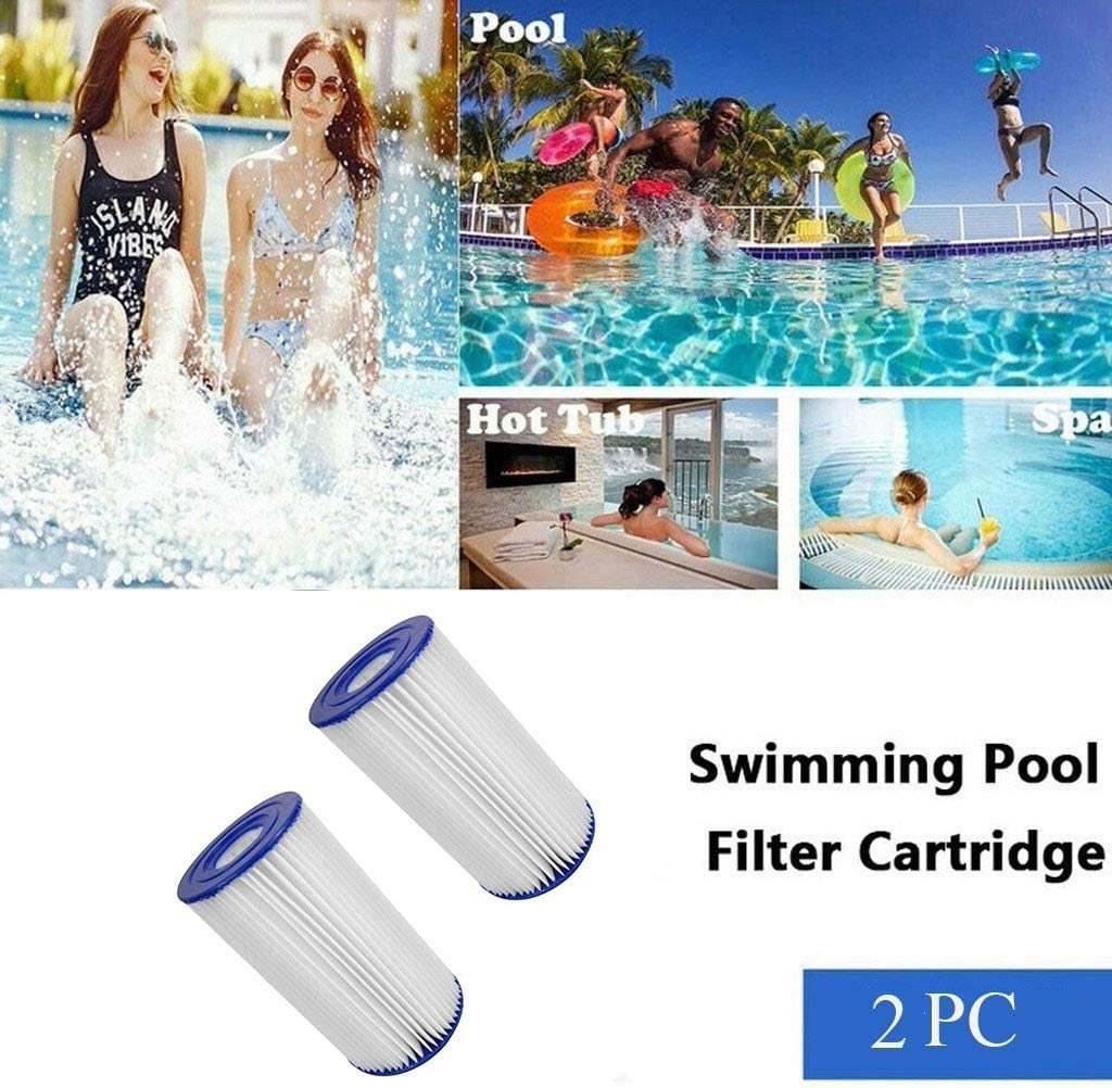 N A Swimming Pool Pump Replacement Cartridge Type A//C Filter,Easy Set Inflatable Swimming Pool Filter Cartridges Accessorie 2 Pack