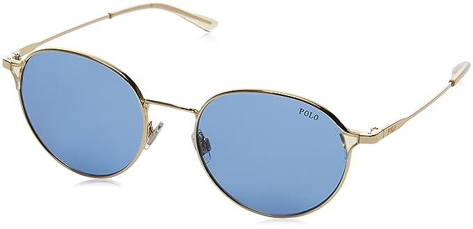 Ralph Lauren POLO 0PH3109 Gafas de sol, Shiny Pale Gold, 53 ...