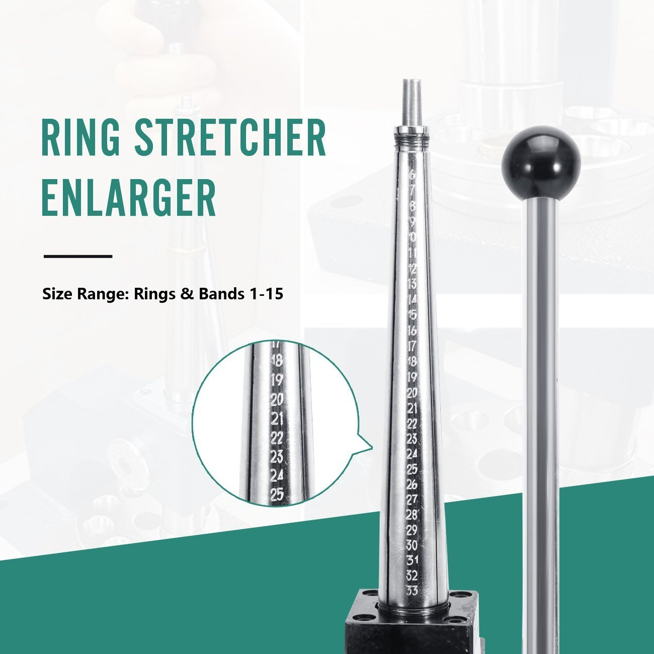 Ring Stretcher Enlarger and Reducer Jewelry Sizer Band Repair tool 1-36