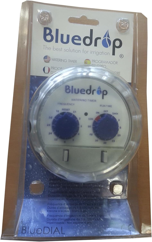 Gris BLUE DROP Blue Dial Programador de Grifo 11.0x6.4x20.5 cm