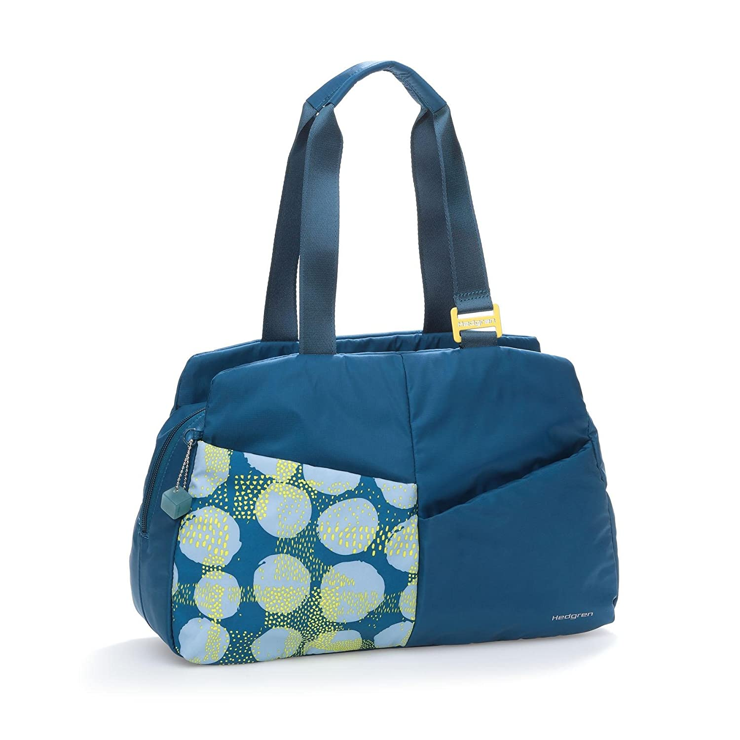 Hedgren Logica Handbag, Gym Tote Bag with Detachable Zipper Pouch and Shoulder Strap, 16.1 x 5.3 x 10.6 Inches, Womens, Spots Blue 16.1 x 5.3 x 10.6 Inches HPLT03-751-03