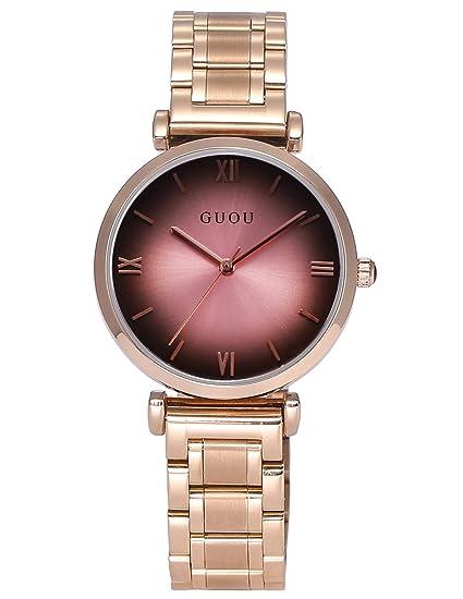 AMPM24 WK1241 Reloj Mujer de Acero Inoxidable Oro Rosa