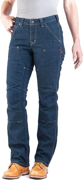 Amazon Com Dovetail Workwear Pantalones De Trabajo Para Mujer Britt Utility Straight Fit Cargo Pantalon Disponible En Denim O Lona Clothing