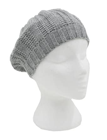 60bed8ad1cd Girls Kids Sparkly Knit Beret   Hat (Grey)  Amazon.co.uk  Clothing
