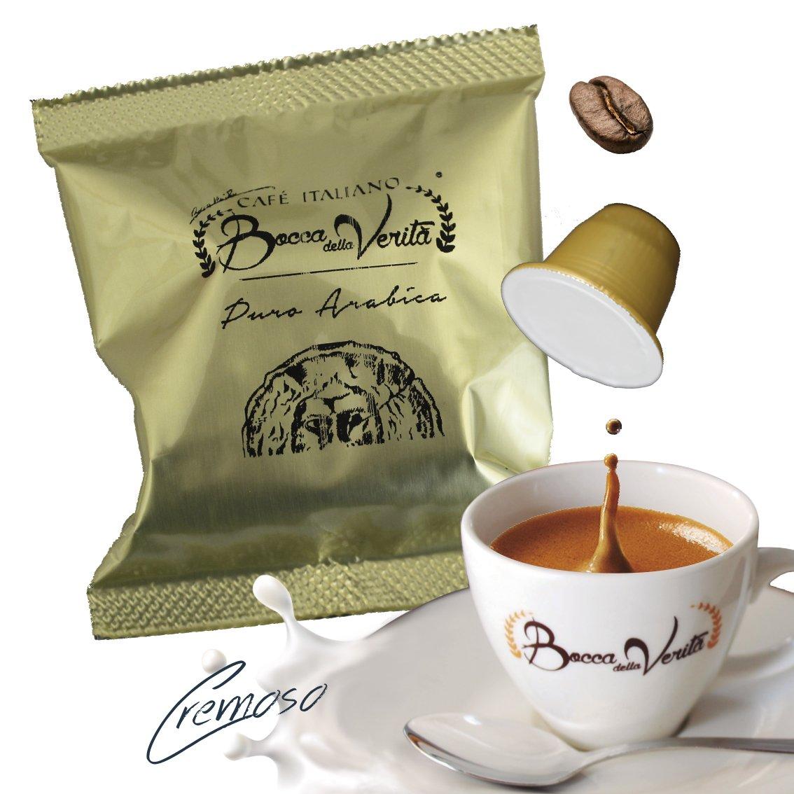 Café cápsula CREMOSO - Nespresso compatible - 100 Cápsulas Bocca Della Veritá - 100% Café Italiano: Amazon.es: Alimentación y bebidas