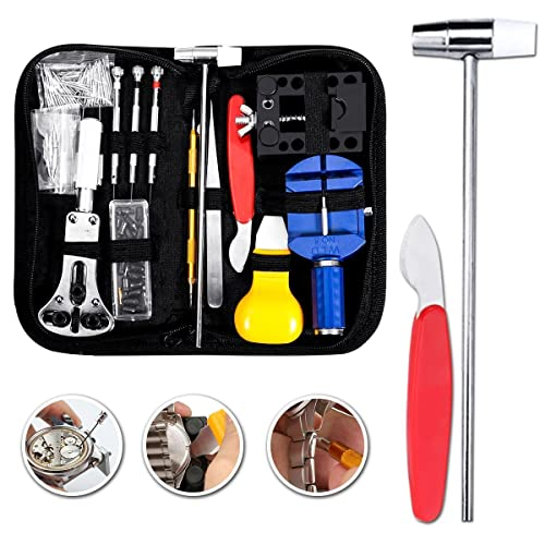 Baban 147pcs Professional Watch Repair Tool Kit Watch Back Case Holder Opener Link Remover Spring Bar Watchmaker Tool Kit With Carrying Case