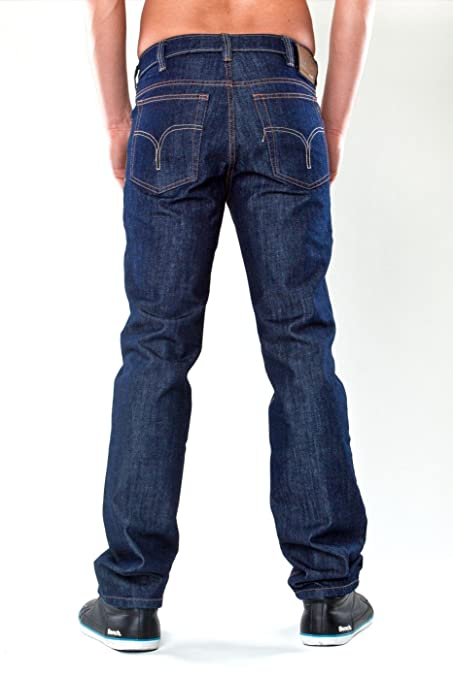 Revils Jeans 342 - Straight Fit (Gerades Bein) Stretch, Blue Black   Amazon.de  Bekleidung c2f816f635
