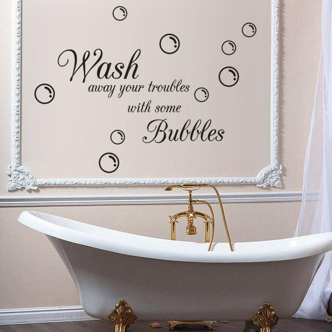 Bathroom Rules Art Wall Stickers Vinyl Removable Decals Mural Home Room Decor