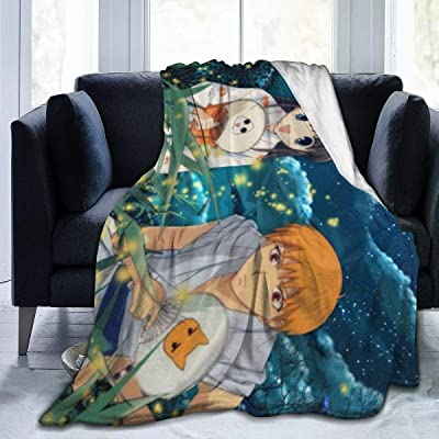 shandongqimingnongyeke Ultra Soft Flannel Fleece Throw Blanket for Kids Boys Adults,Fruits Basket Anime Firefly Lightweight Warm Winter Anti-Static Blankets for Bed Couch Sofa Living Room Bedroom: Home & Kitchen
