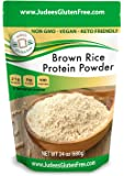 Judee's Brown Rice Protein (80% Protein) 1.5 lb (3 lb Also), Keto, Non GMO, Vegan, Sprouted, Dairy Free, Soy Free…