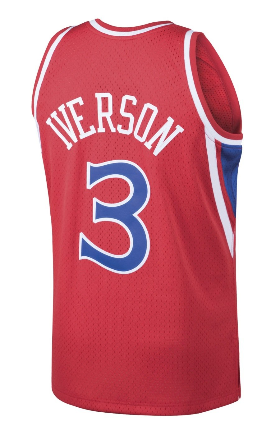 f48431d8 Amazon.com : Mitchell & Ness Allen Iverson Philadelphia 76ers NBA Throwback  Jersey - Red : Clothing