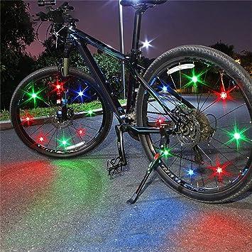 Hunpta@ - Juego de 6 Luces LED para Rueda de Bicicleta: Amazon.es: Deportes y aire libre
