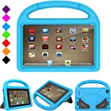DiHines Fire 7 2017 Kids Case, Fire 7 2015 Kids Case Light Weight Shock Proof Handle Friendly Stand Kid-Proof Case for All New Amazon Fire 7 inch Display Tablet Cover(2015&2017 Release) (Blue)