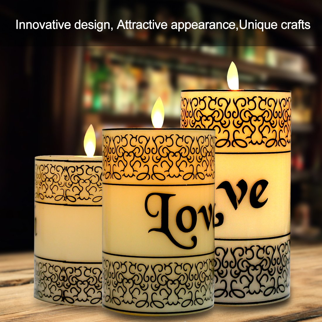 Votive 4 5 6 Flickering Light Real Wax Candles Include 10-Key Remote Control with 2//4//6// 8-hours Timer Function for Wedding Yoga and Deco WEWOSKY Flameless LED Candles