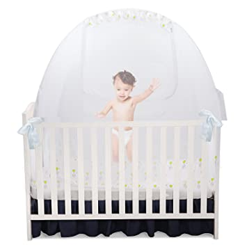 Baby Crib Pop Up Tent Infant Bed Safety Canopy Cover u0026 Mosquito Net for Nursery  sc 1 st  Amazon.com : infant tent bed - memphite.com