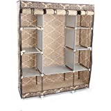 Tenozek 4-Layer 10 Lattices European-Style Pattern Non-Woven Fabric Wardrobe
