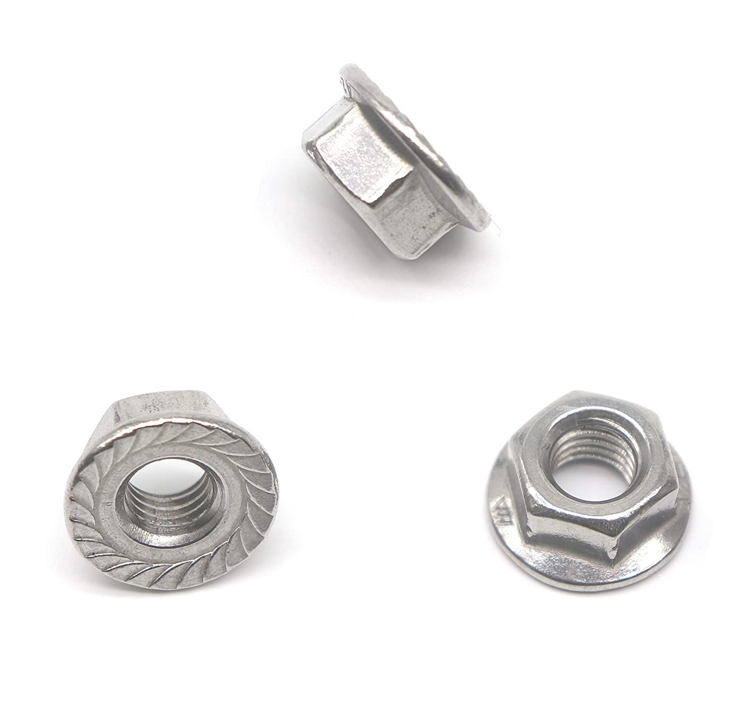 M8 Flange Nuts 20 Pieces binifiMux Thread M8 Serrated Hex Flange Lock Nuts 304 Stainless Steel