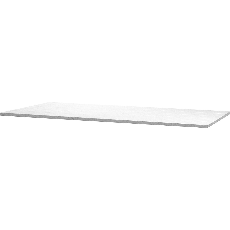 4Seasons Outdoor Rivoli Tisch Concept Alu-Lamellen mit Alugestell weiß 170x95cm