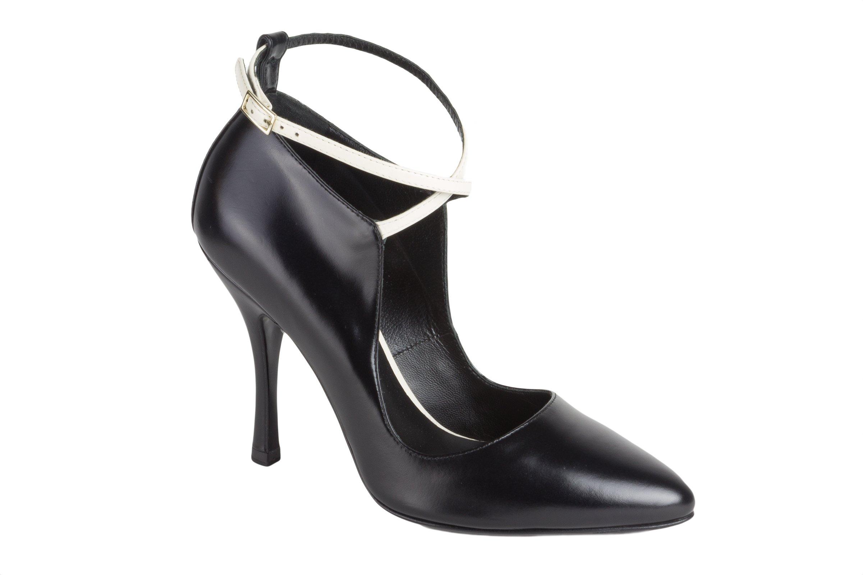 Max Mara Women's Galante Leather Pumps US 8 / IT 38 Black