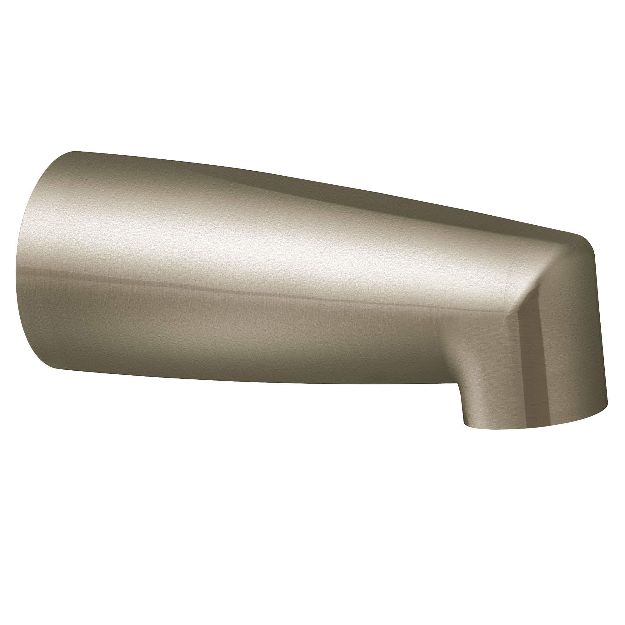 Moen 3829BN Non-Diverter 1/2-Inch CC Slip-Fit Tub Filler Spout, Brushed Nickel by Moen