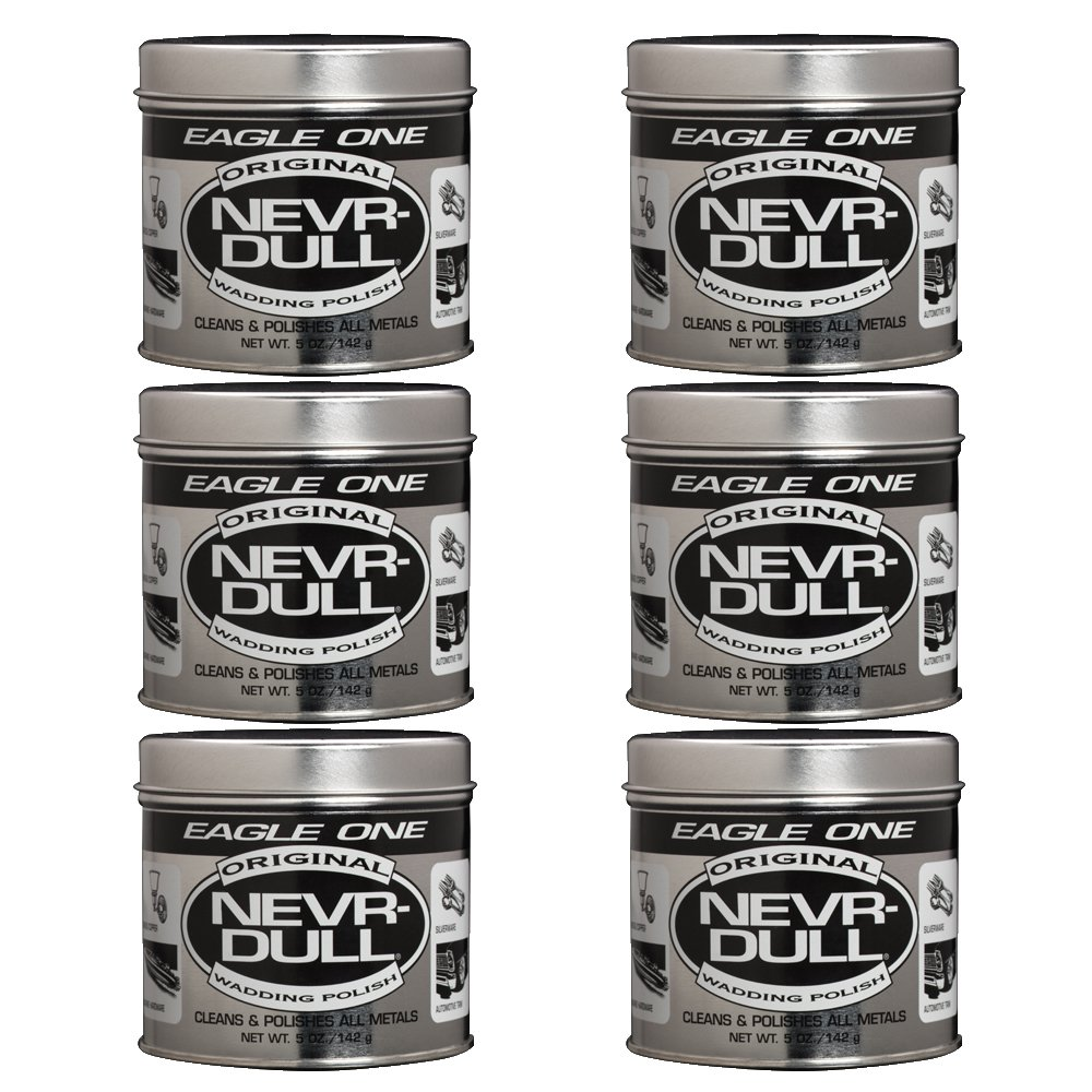 Eagle One Nevr-Dull Wadding Metal Polish, Chrome Restoration, For Wheels and More, 5 Ounce Jar E301131001