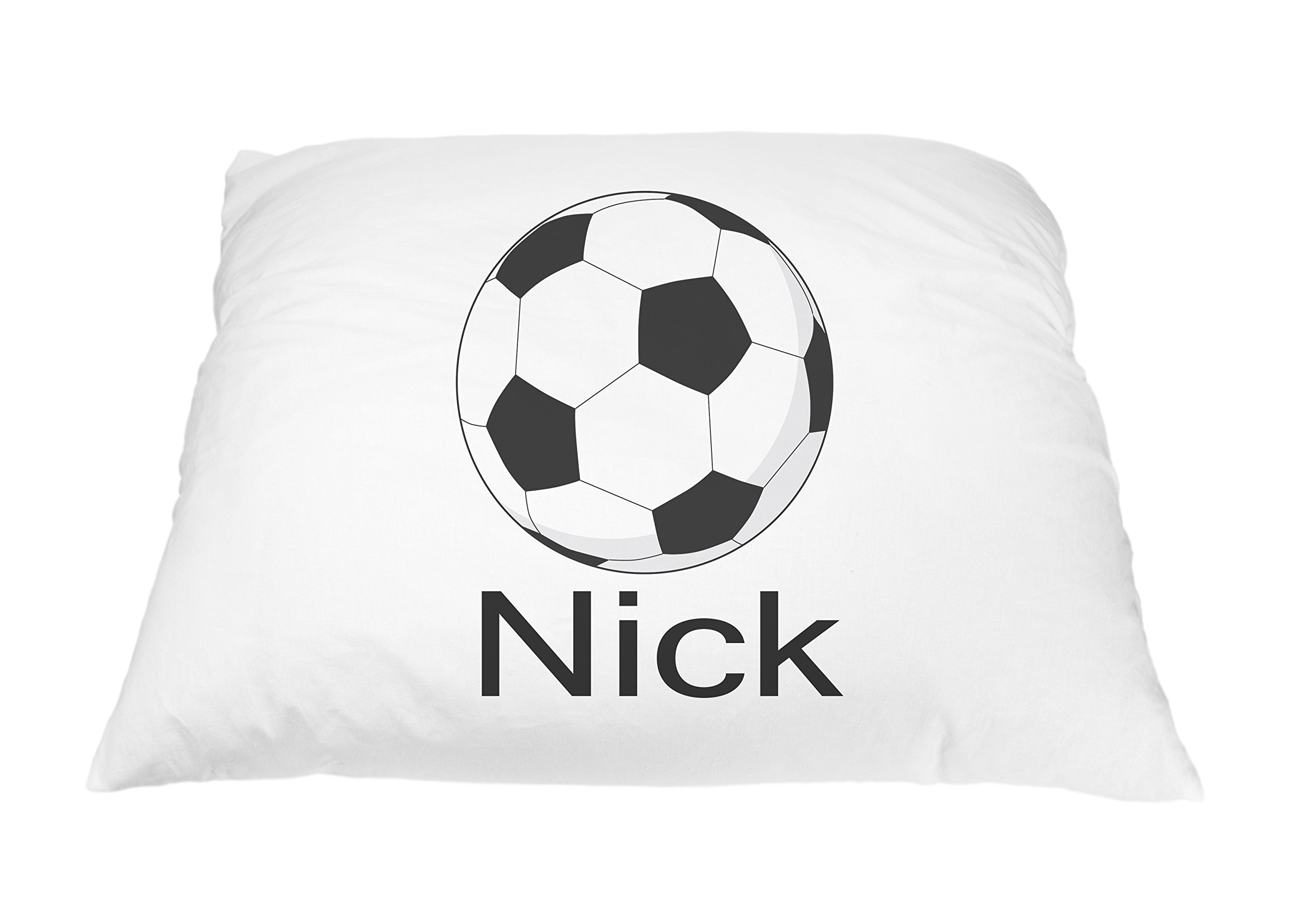 Personalized Kid's Soccer Ball Sports Pillowcase Microfiber Polyester Standard 20 by 30 Inches, Kids Bedding Pillows, Custom Pillowcase, Soccer Pillow Cover, Soccer Gift Personalized Pillows for Kids