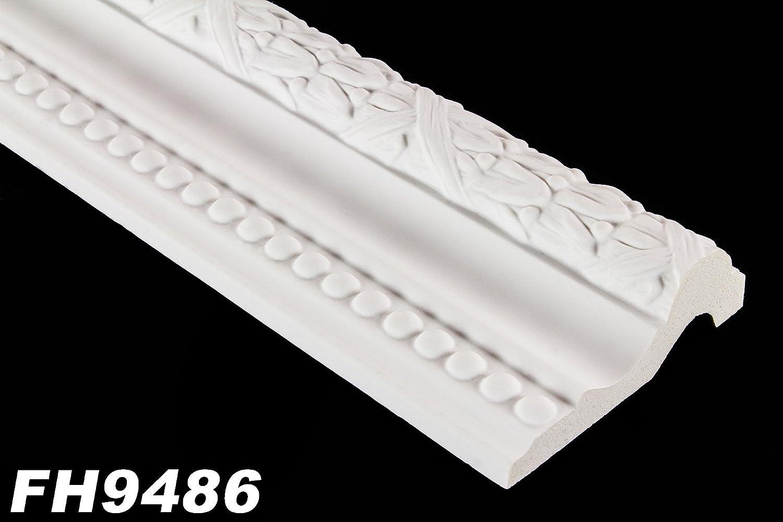 2/m/ètres PU Plat Barre Profil int/érieur D/écor Stuc antichoc 105/x 35/mm fh9486