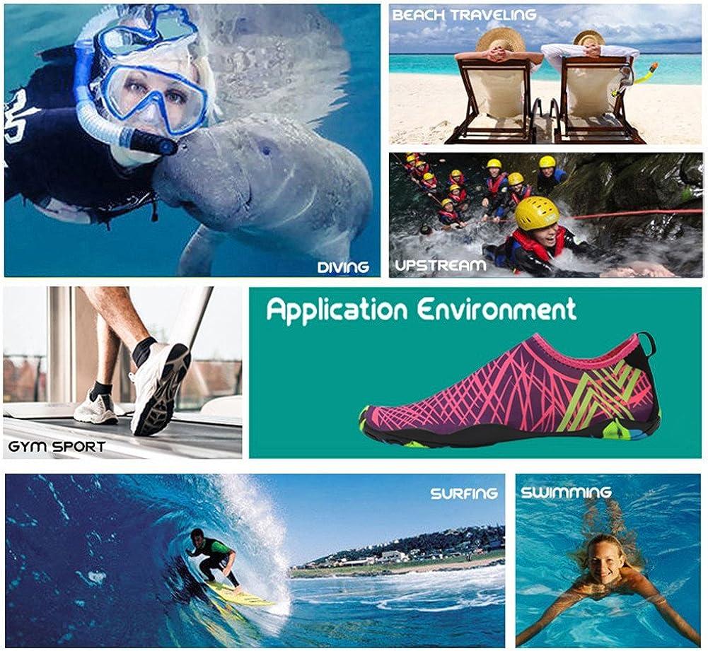 Strandschuhe Damen Herren Wasserschuhe Badeschuhe Unisex Atmungsaktiv Leicht Barfu/ßschuhe rutschfeste f/ür Schwimmen Tauchen