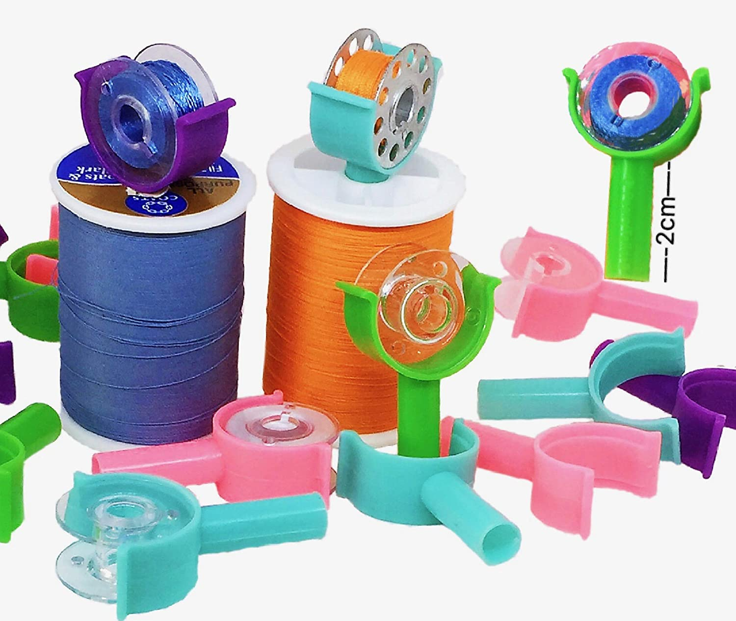 PeavyTailor 50 Pcs Bobbin Holders Clamps Bobbin Buddies Great for Embroidery Quilting and Sewing Thread Sewing Machine.