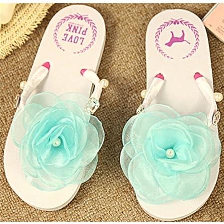 8e410322725729 KAKA(TM) Women s Fashion Blue Rose Flower Rhinestone Glitter Studded  Crystal Thong Sandals Flip Flops Flat Shoes Sandals(37-38)  Amazon.co.uk   DIY   Tools