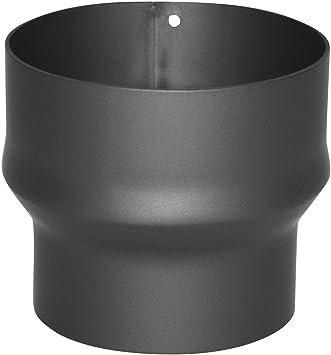Ideal Estufas de Le/ña Wolfpack Tubo de Estufa Acero Vitrificado Negro /Ø 150 mm Alta resistencia Chimenea Color Negro /Ø