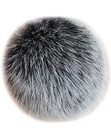 Valpeak 5'' Fox Fur Large Ball Pom Pom Keychain Womens Bag Purse Charms